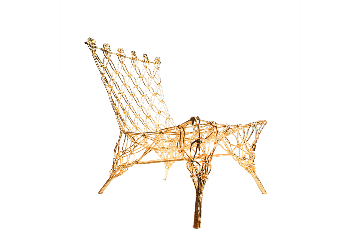Marcel Wanders/Gold knotted chair