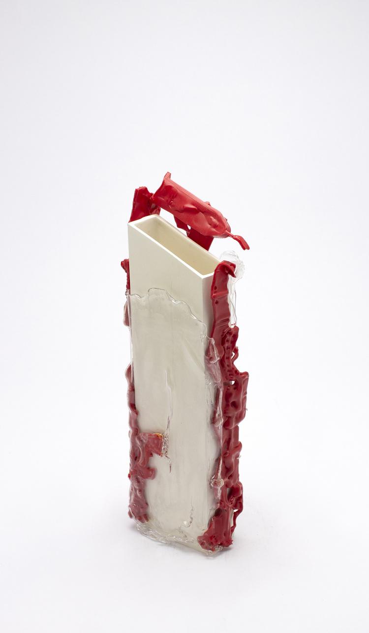 Floriane Dulurieb/Plover Red Vase